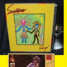 Discos de vinilo: SANTANA - SHANGO 1983, RARA COMPLETA 1ª EDIC ORG USA PROMOCIONAL + ENCARTE, EXC. Lote 135764050