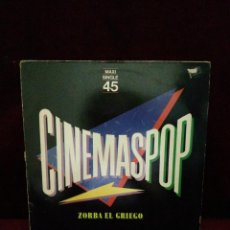 Discos de vinilo: CINEMAS POP ZORBA EL GRIEGO . Lote 135764198