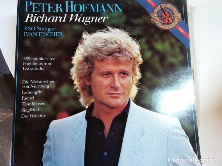 DISCO VINILO.PETER HOFMANN.RICHARD WAGNER.MASTERWORKS. segunda mano