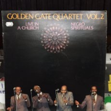 Discos de vinilo: LIVE IN A CHURCH. NEGRO SPIRITUALS. GOLDEN GATE QUARTET, VOL. 2. Lote 135768482