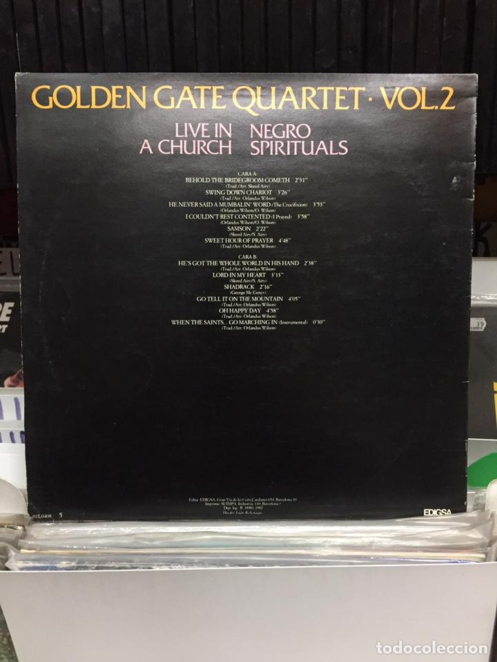 Discos de vinilo: Live in a Church. Negro Spirituals. Golden Gate Quartet, Vol. 2 - Foto 2 - 135768482