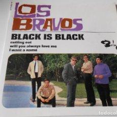 Discos de vinilo: BRAVOS, EP, BLACK IS BLACK + 3, AÑO 19?? MADE IN FRANCE. Lote 135791854