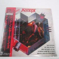 Discos de vinilo: VINILO EDICIÓN JAPONESA DE VINILO DE ACCEPT LONDON LEATHERBOYS. Lote 135792346