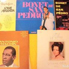Discos de vinilo: H29 5 LP VINTAGE: JORGE SEPULVEDA + BONET DE SAN PEDRO (2) + ANTONIO MACHIN + SARA MONTIEL. Lote 135795510