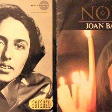 Discos de vinilo: H31 2 LP JOAN BAEZ 1960'S: NOEL-HISPAVOX 1966 + FAREWELL ANGELINA-VANGUARD 1965. Lote 135796254