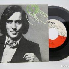 Discos de vinilo: DISCO SINGLE DE VINILO - JOAN MANUEL SERRAT / 20 DE MARÇ, CONILLET DE VELLUT - EDIGSA - AÑO 1970. Lote 135805066