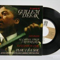 Discos de vinilo: DISCO EP DE VINILO - GUILLEM D' EFAK / LES ILLES - CONCENTRIC, 1966 - FOLLETO CON CANCIONES. Lote 135805825