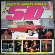 Discos de vinilo: ROCK AND ROLL OF THE 50'S 2LP - RITCHIE VALENS,CHUBBY CHECKER,LITTLE RICHARD.... Lote 135805898