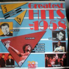 Discos de vinilo: GREATEST HITS OF 1958 2LP GATEFOLD . Lote 135807302