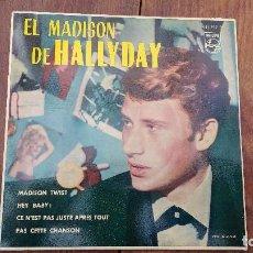 Discos de vinilo: EP A 45 RPM DEL CANTANTE FRANCES DE ROCK AND ROLL, JOHNNY HALLYDAY. Lote 135813402