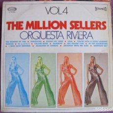 Discos de vinilo: LP - ORQUESTA RIVIERA - THE MILLION SELLERS VOL. 4 (SPAIN, MOVIEPLAY 1970). Lote 135828642