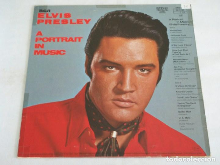 Discos de vinilo: ELVIS PRESLEY ( A PORTRAIT IN MUSIC ) 1972 - GERMANY LP33 RCA - Foto 2 - 137703600