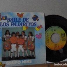 Discos de vinilo: GRUP NINS -EL BAILE DE LOS PAJARITOS-. Lote 135850494