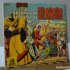 Discos de vinilo: LA RENDICION DE GRANADA .-CUENTO COMIC DISCO COLOR ROJO -. Lote 135853190