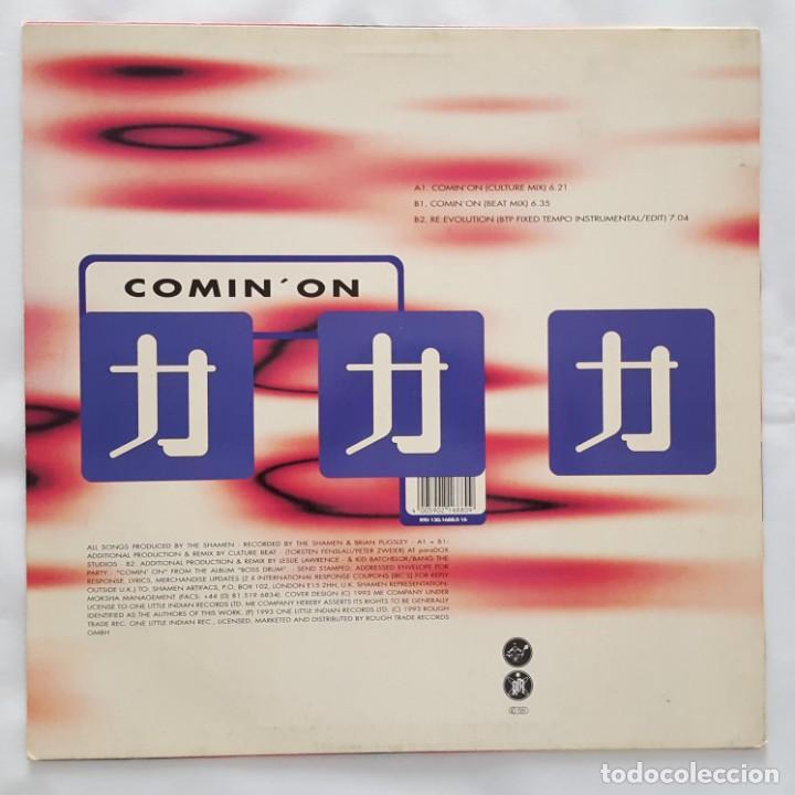 Discos de vinilo: MAXI / THE SHAMEN / REMIXED BY CULTURE BEAT / COMIN ON / 1993 / LIMITED EDITION VINILO TRANSPARENTE - Foto 2 - 135854370