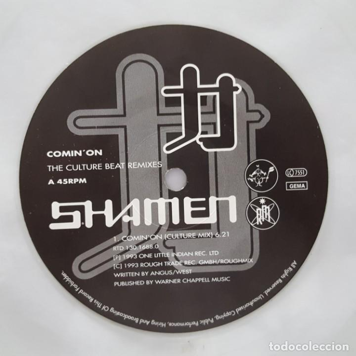 Discos de vinilo: MAXI / THE SHAMEN / REMIXED BY CULTURE BEAT / COMIN ON / 1993 / LIMITED EDITION VINILO TRANSPARENTE - Foto 3 - 135854370