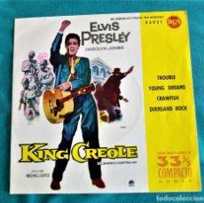 Discos de vinilo: ELVIS PRESLEY - KING CREOLE - EP 33 RPM -EDITADO ESPAÑA 1961. RCA VICTOR. Lote 134769033