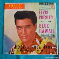 Discos de vinilo: ELVIS PRESLEY - ROCK A HULA BABY+1 - EP 33 RPM -EDITADO ESPAÑA 1961. RCA VICTOR. Lote 134769045