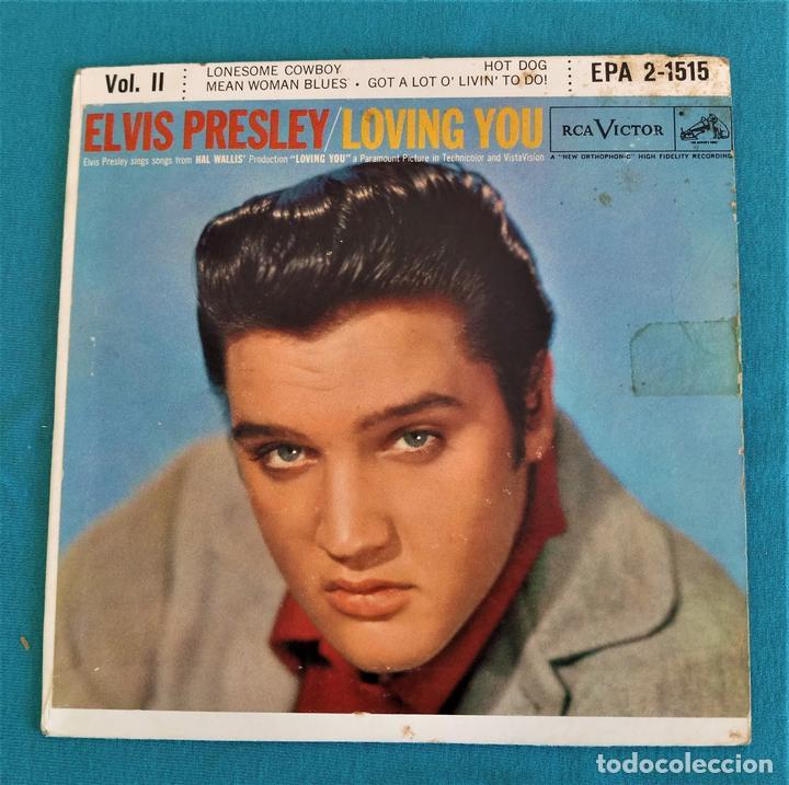 ELVIS PRESLEY - - LOVING YOU - - EP - EDITADO EN USA, 1957. RCA VICTOR (Música - Discos de Vinilo - EPs - Rock & Roll)