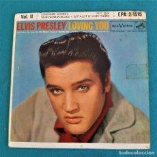 Discos de vinilo: ELVIS PRESLEY - - LOVING YOU - - EP - EDITADO EN USA, 1957. RCA VICTOR. Lote 135421254