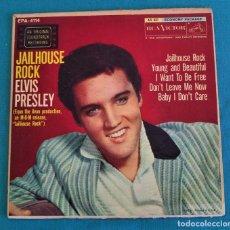 Discos de vinilo: ELVIS PRESLEY - - JAILHOUSE ROCK - - EP - EDITADO EN USA, 1957. RCA VICTOR. Lote 135421258