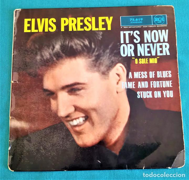 ELVIS PRESLEY - - IT'S NOW OR NEVER (O SOLE MIO)+3 - - EP - EDITADO EN FRANCIA 1960. RCA (Música - Discos de Vinilo - EPs - Pop - Rock Internacional de los 50 y 60	)