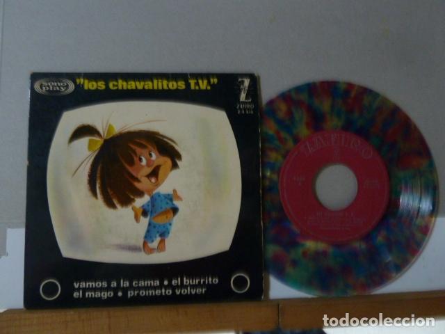 LA FAMILIA TELERIN -VAMOS A LA CAMA -Y 3 MAS -DISCO DE COLORES- (Música - Discos - Singles Vinilo - Música Infantil)