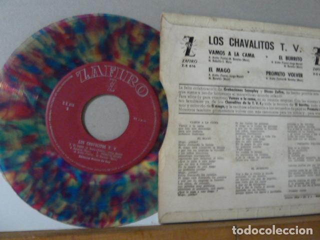 Discos de vinilo: LA FAMILIA TELERIN -VAMOS A LA CAMA -Y 3 MAS -DISCO DE COLORES- - Foto 2 - 135866766