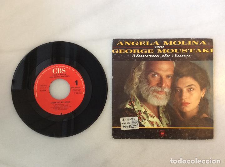 ANGELA MOLINA CON GEORGE MOUSTAKI. MUERTOS DE AMOR (Música - Discos - Singles Vinilo - Cantautores Internacionales)