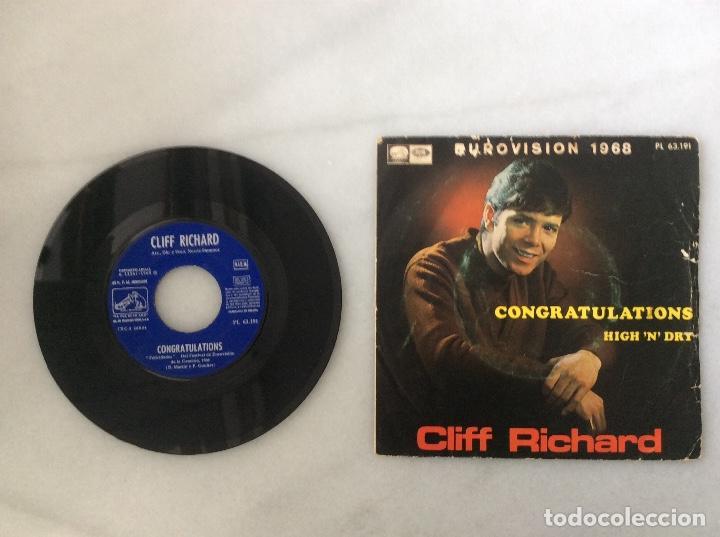 CLIFF RICHARD. CONGRATULATIONS. EUROVISION 1968 (Música - Discos de Vinilo - Maxi Singles - Cantautores Extranjeros)