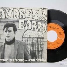 Discos de vinilo: DISCO SINGLE DE VINILO - ANDRES DO BARRO / CORPIÑO XEITOSO, RAPACIÑA - RCA - AÑO 1970. Lote 135884867