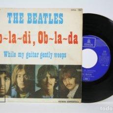 Discos de vinilo: DISCO SINGLE DE VINILO - THE BEATLES / OB LA DI, OB LA DA - ODEON - AÑO 1969. Lote 135885325