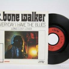 Discos de vinilo: DISCO SINGLE DE VINILO - T. BONE WALKER / EVERYDAY I HAVE THE BLUES - TRUMP - MADE IN FRANCE. Lote 135885358