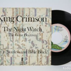 Discos de vinilo: DISCO SINGLE DE VINILO - KING CRIMSON / THE NIGHT WATCH - ISALND - AÑO 1974. Lote 135885654
