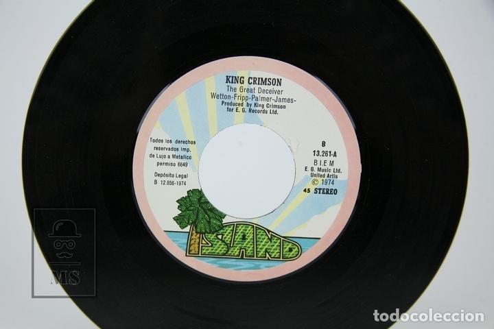 Discos de vinilo: Disco Single De Vinilo - King Crimson / The Night Watch - Isalnd - Año 1974 - Foto 2 - 135885654