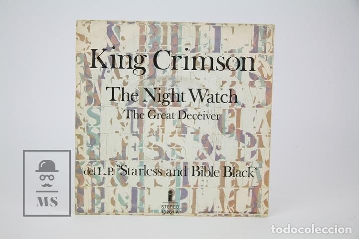 Discos de vinilo: Disco Single De Vinilo - King Crimson / The Night Watch - Isalnd - Año 1974 - Foto 3 - 135885654