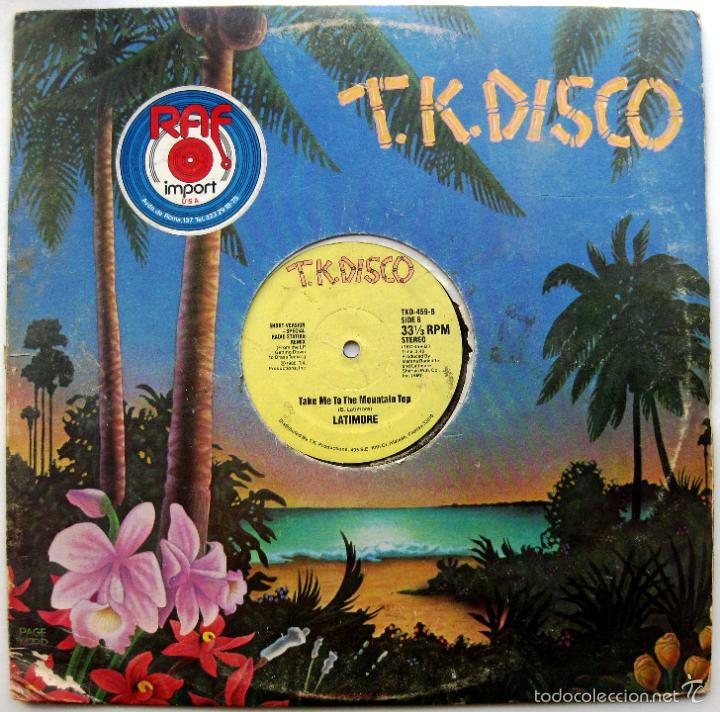 LATIMORE - TAKE ME TO THE MOUNTAIN TOP - MAXI T.K. DISCO 1980 USA BPY (Música - Discos de Vinilo - Maxi Singles - Funk, Soul y Black Music)