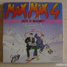 Discos de vinilo: MAX MIX 4 - HAZTE TU MEGAMIX!! - LP DOBLE INCLUYE 2 PATINADORES Y MONTADORA - 1986 - MAX. Lote 135894882