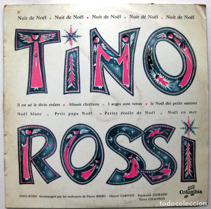 TINO ROSSI - NUIT DE NOËL - LP 25 CM 33 RPM COLUMBIA 1957 FRANCIA BPY (Música - Discos - LP Vinilo - Canción Francesa e Italiana)