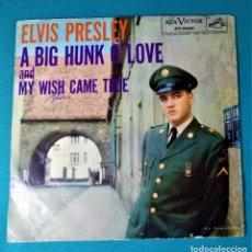 Discos de vinilo: ELVIS PRESLEY - - A BIG HUNK O LOVE+1 - SINGLE - EDITADO EN USA. 1958. RCA VICTOR. Lote 135861109