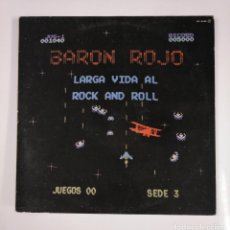 Discos de vinilo: BARÓN ROJO. LARGA VIDA AL ROCK AND ROLL. LP. TDKLP. Lote 135915802