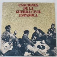 Discos de vinilo: CANCIONES DE LA GUERRA CIVIL ESPAÑOLA. SINGLE. Lote 135918489