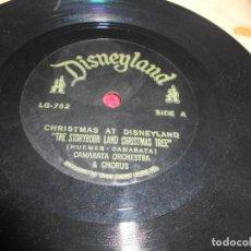 Discos de vinilo: CAMARATA ORCH.&CHORUS THE STORYBOOK LAND CHRISTMAS TREE/FUTURISTIC CHRISTMAS TREE 1962 US DISNEY. Lote 135928538