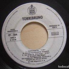 Discos de vinilo: TORREBRUNO - TIGRES Y LEONES - EP PROMOCIONAL 1981 - HISPAVOX. Lote 135932478