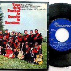 Discos de vinilo: TUNA DE LA FACULTAD DE DERECHO DE BARCELONA - ISLAS CANARIAS - EP DISCOPHON 1968 BPY. Lote 135934186