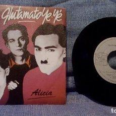 Discos de vinilo: GLUTAMATO YE-YÉ - ALICIA / LA VERDE DUDA - SINGLE ARIOLA A-107.259 AÑO 1985. ESTADO NUEVO. NO PROMO.. Lote 135935082