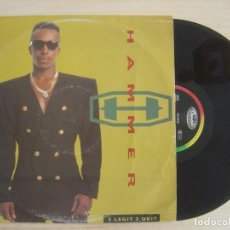 Discos de vinilo: MC HAMMER - 2 LEGIT 2 QUIT - MAXI-SINGLE 45 - ALEMAN 1991 - CAPITOL RECORDS . Lote 135935250