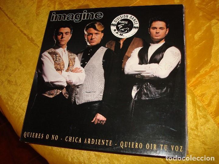 IMAGINE. QUIERES O NO. MAXI-SINGLE. HORUS, 1994. EDC. ESPAÑOLA. IMPECABLE (Música - Discos de Vinilo - Maxi Singles - Grupos Españoles de los 90 a la actualidad)