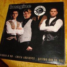 Discos de vinilo: IMAGINE. QUIERES O NO. MAXI-SINGLE. HORUS, 1994. EDC. ESPAÑOLA. IMPECABLE. Lote 135938262