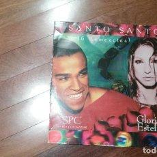 Discos de vinilo: SPC & GLORIA ESTEFAN-SANTO SANTO.6 REMEZCLAS.MAXI. Lote 135939614